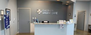 East Beach Urgent Care lobby